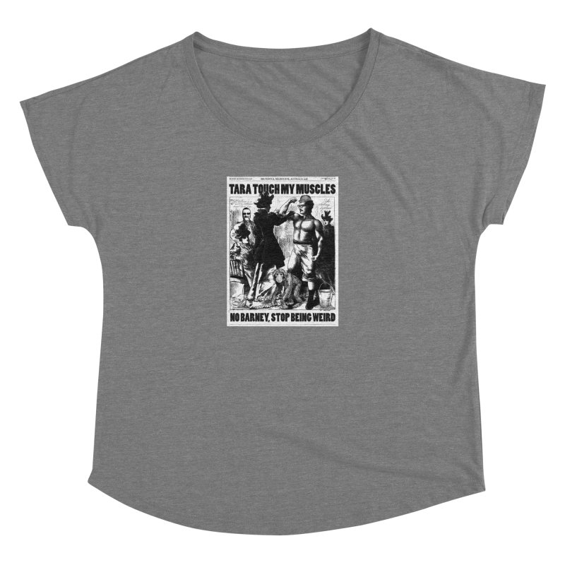 Tara Touch My Muscles Women's Scoop Neck by Bloody Murder's Artist Shop