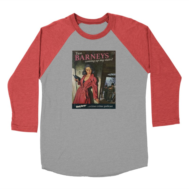 Two Barneys Coming Up My Stairs Women's Baseball Triblend Longsleeve T-Shirt by Bloody Murder's Artist Shop