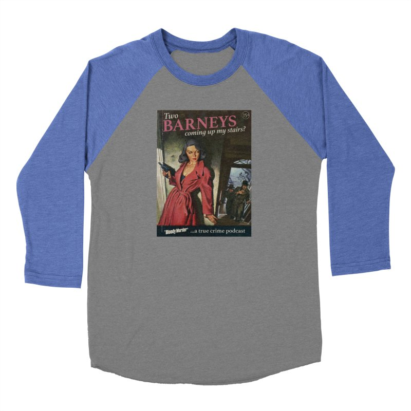 Two Barneys Coming Up My Stairs Men's Baseball Triblend Longsleeve T-Shirt by Bloody Murder's Artist Shop
