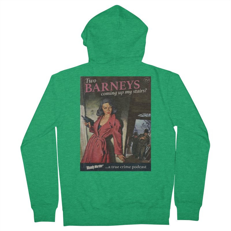 Two Barneys Coming Up My Stairs Women's Zip-Up Hoody by Bloody Murder's Artist Shop