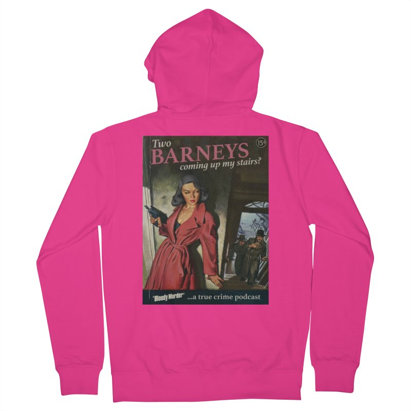 Two Barneys Coming Up My Stairs Men's French Terry Zip-Up Hoody by bloodymurder's Artist Shop