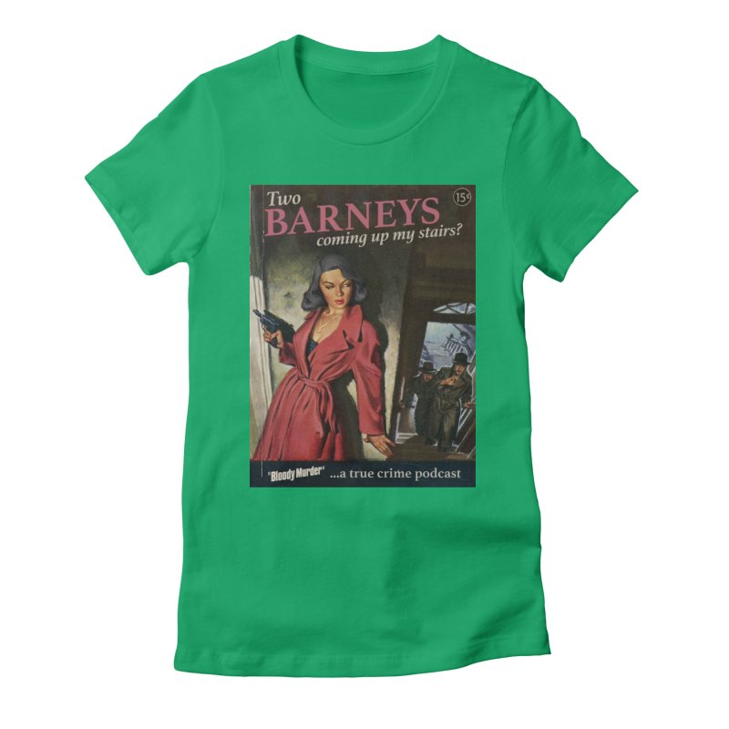 Two Barneys Coming Up My Stairs Women's T-Shirt by Bloody Murder's Artist Shop