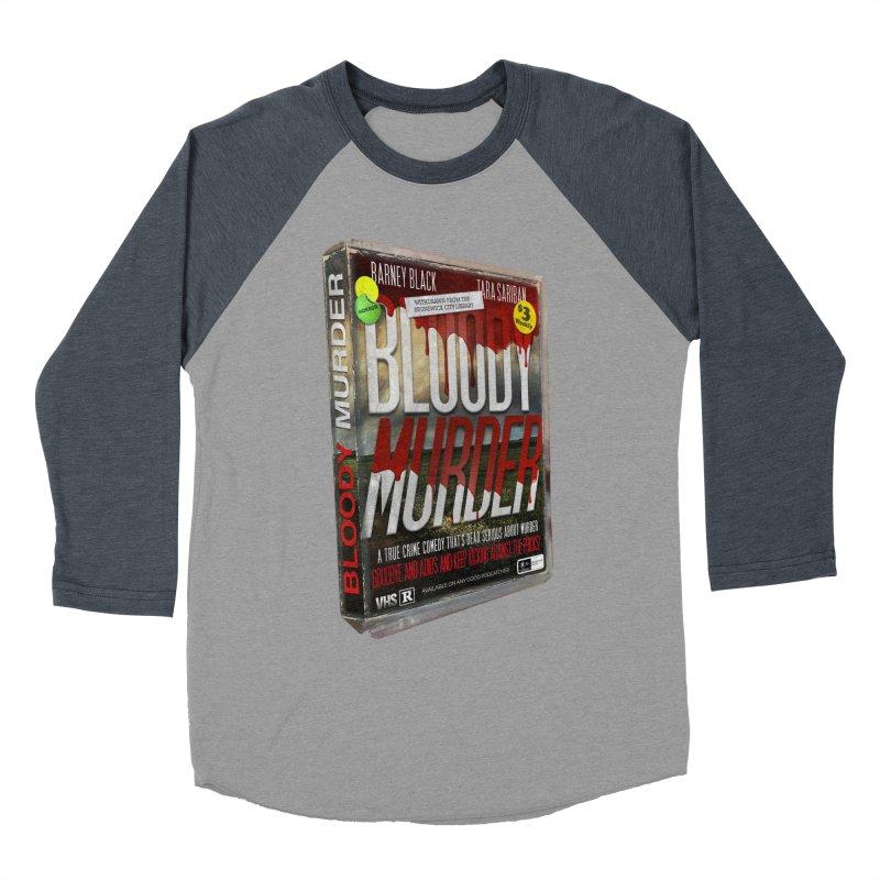 Bloody Murder VHS 1982 Men's Baseball Triblend Longsleeve T-Shirt by Bloody Murder's Artist Shop