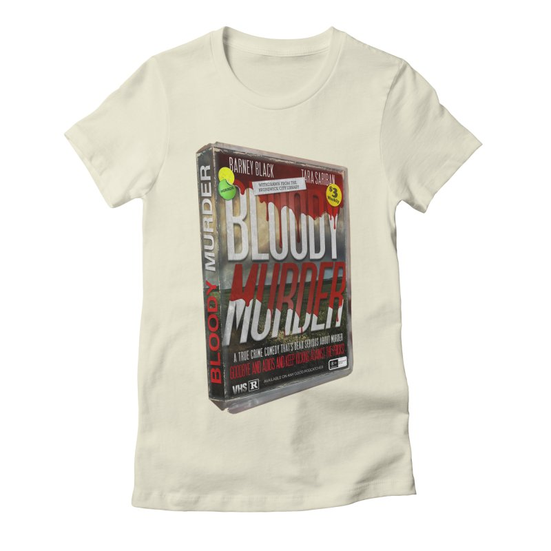Bloody Murder VHS 1982 Women's Fitted T-Shirt by bloodymurder's Artist Shop
