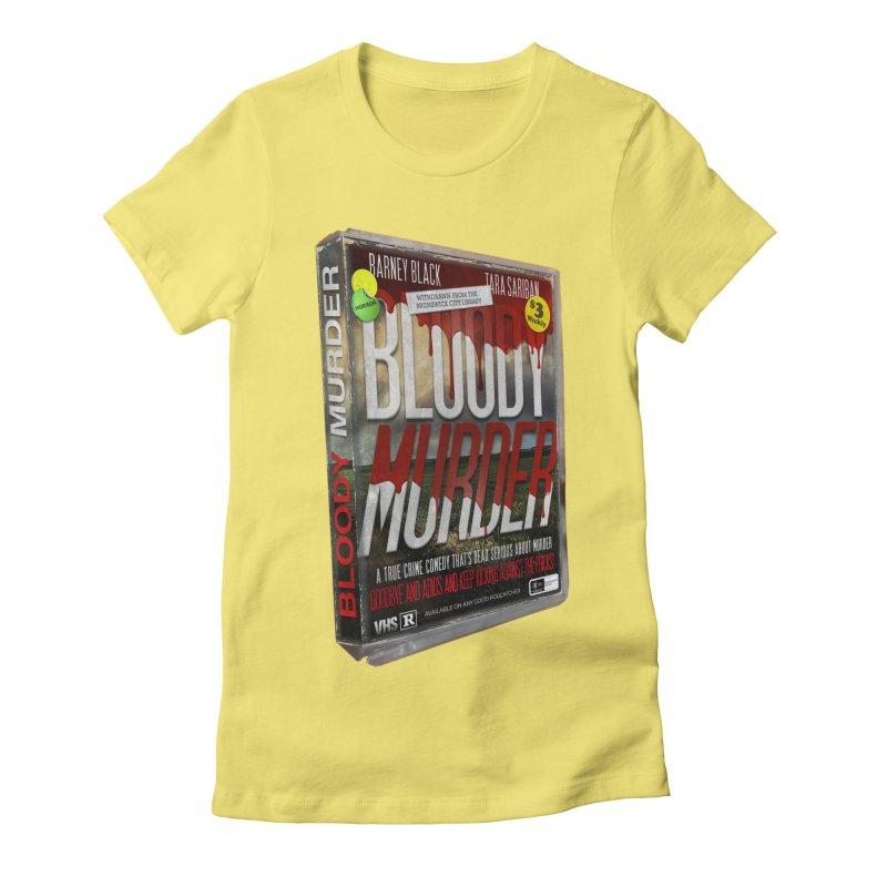 Bloody Murder VHS 1982 Women's Fitted T-Shirt by bloodymurder's Artist Shop