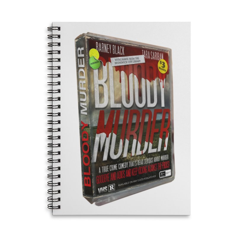 Bloody Murder VHS 1982 Accessories Lined Spiral Notebook by Bloody Murder's Artist Shop