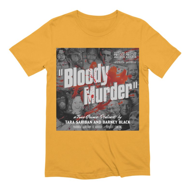 Bloody Murder Podcast Album Cover Men's Extra Soft T-Shirt by bloodymurder's Artist Shop
