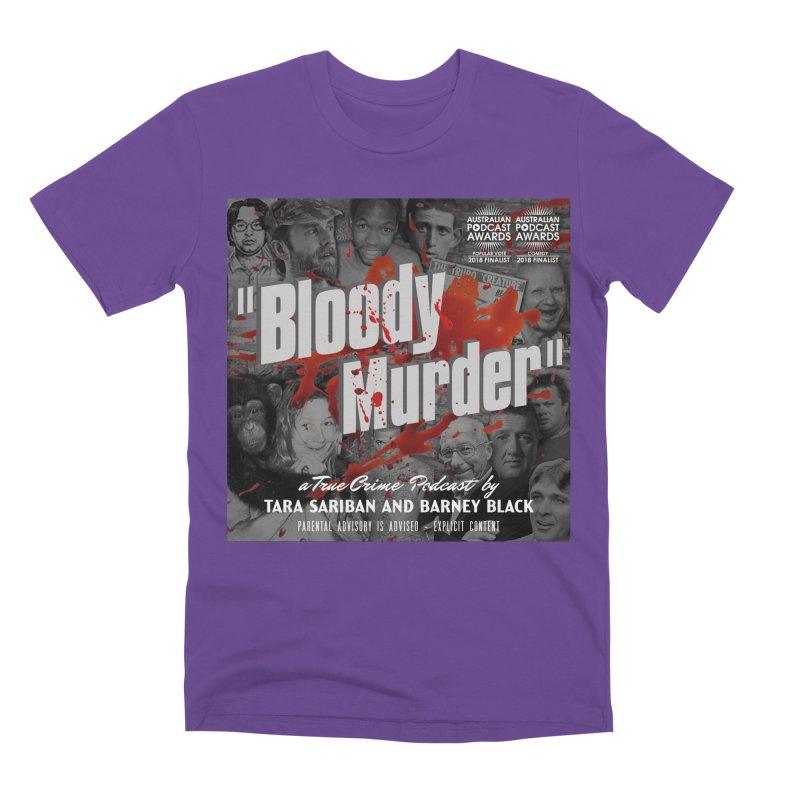 Bloody Murder Podcast Album Cover Men's Premium T-Shirt by bloodymurder's Artist Shop