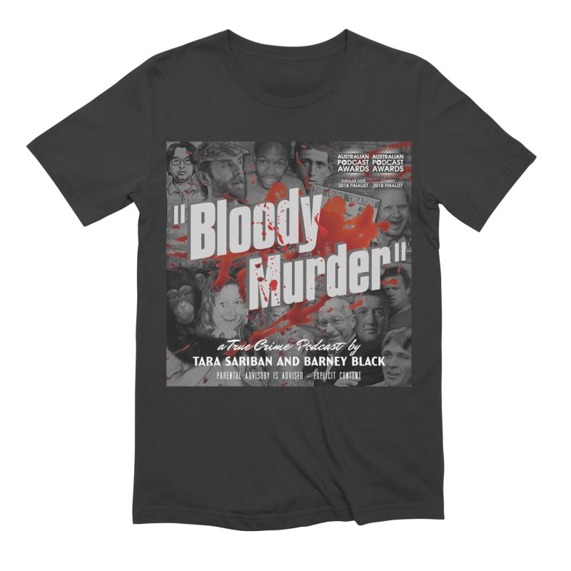 Bloody Murder Podcast Album Cover Men's Extra Soft T-Shirt by bloodymurder's Artist Shop