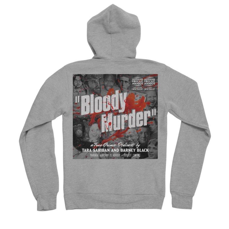 Bloody Murder Podcast Album Cover Men's Sponge Fleece Zip-Up Hoody by bloodymurder's Artist Shop