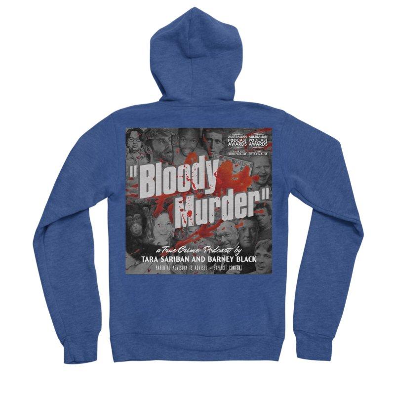 Bloody Murder Podcast Album Cover Women's Sponge Fleece Zip-Up Hoody by Bloody Murder's Artist Shop