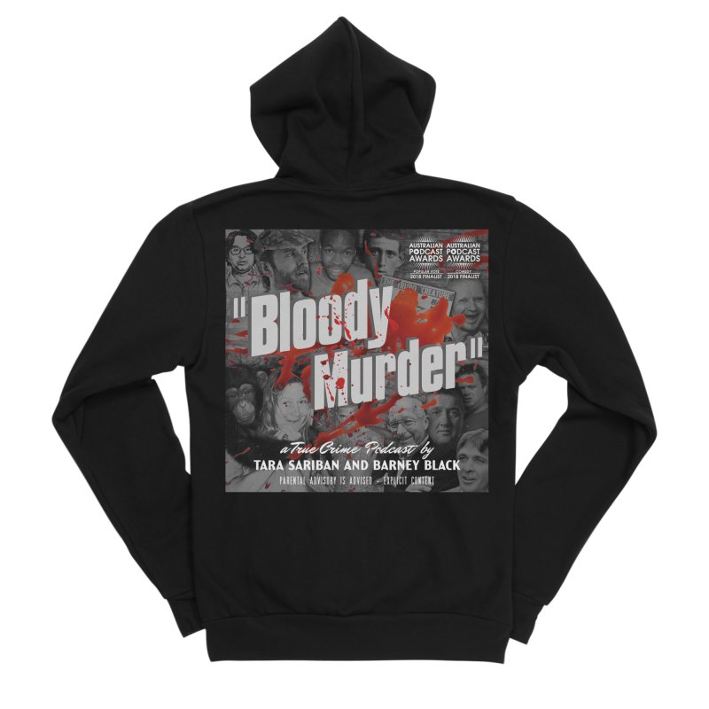 Bloody Murder Podcast Album Cover Women's Sponge Fleece Zip-Up Hoody by Bloody Murder's Artist Shop