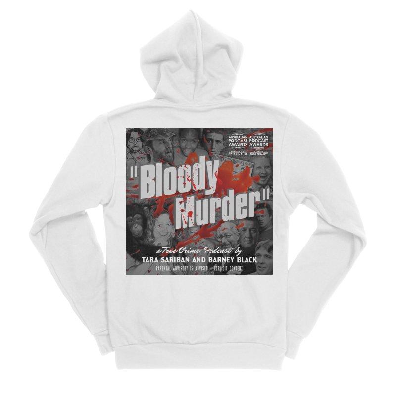 Bloody Murder Podcast Album Cover Men's Sponge Fleece Zip-Up Hoody by Bloody Murder's Artist Shop