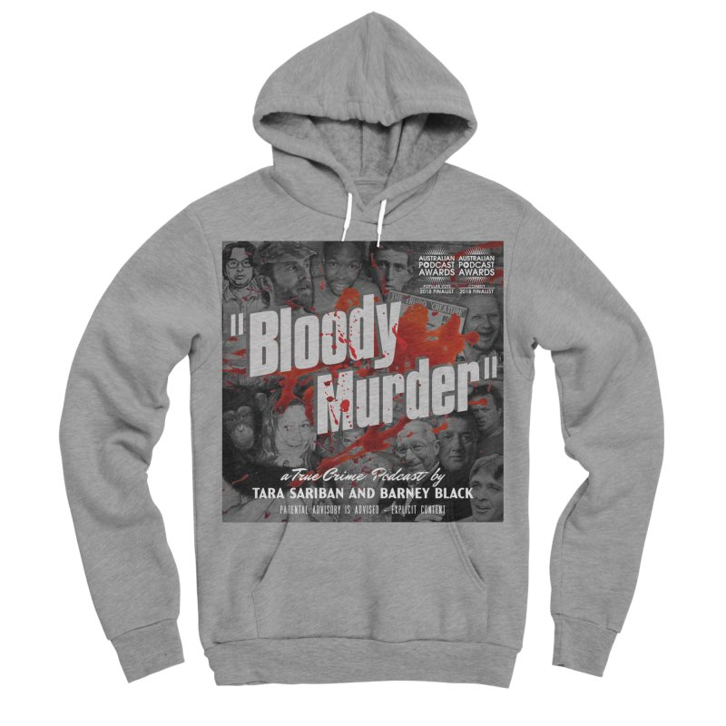 Bloody Murder Podcast Album Cover Women's Sponge Fleece Pullover Hoody by Bloody Murder's Artist Shop