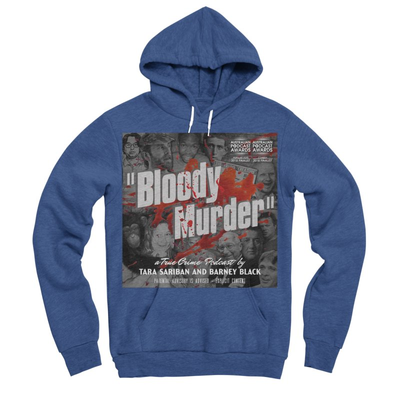 Bloody Murder Podcast Album Cover Men's Sponge Fleece Pullover Hoody by Bloody Murder's Artist Shop
