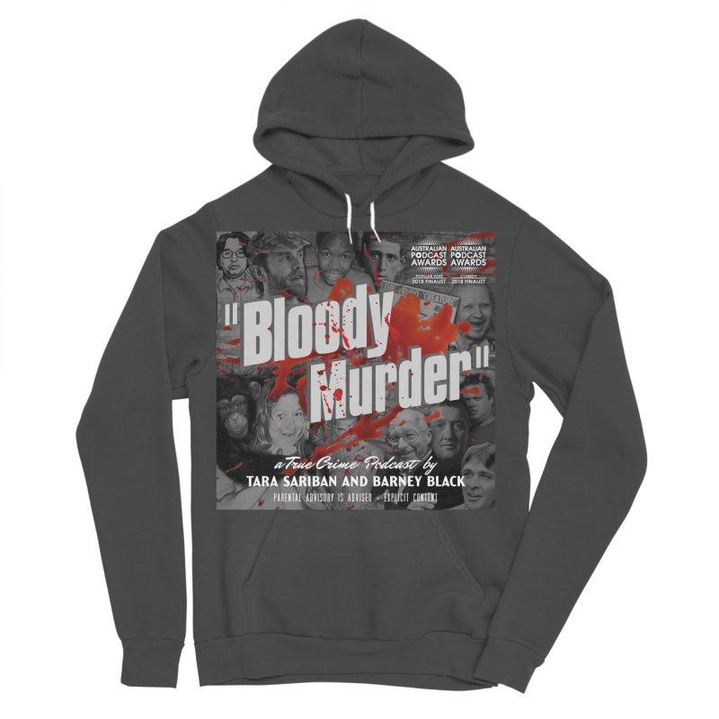Bloody Murder Podcast Album Cover Men's Sponge Fleece Pullover Hoody by bloodymurder's Artist Shop