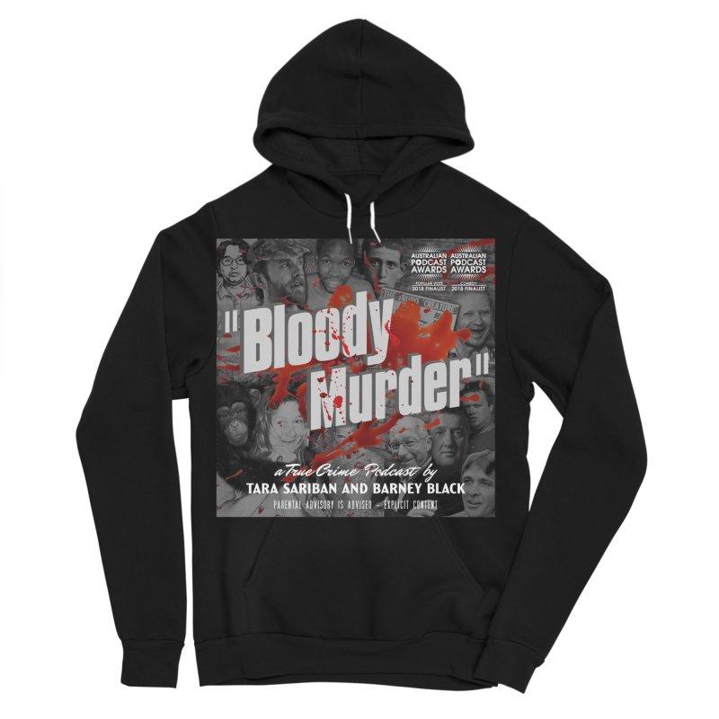 Bloody Murder Podcast Album Cover Women's Sponge Fleece Pullover Hoody by bloodymurder's Artist Shop