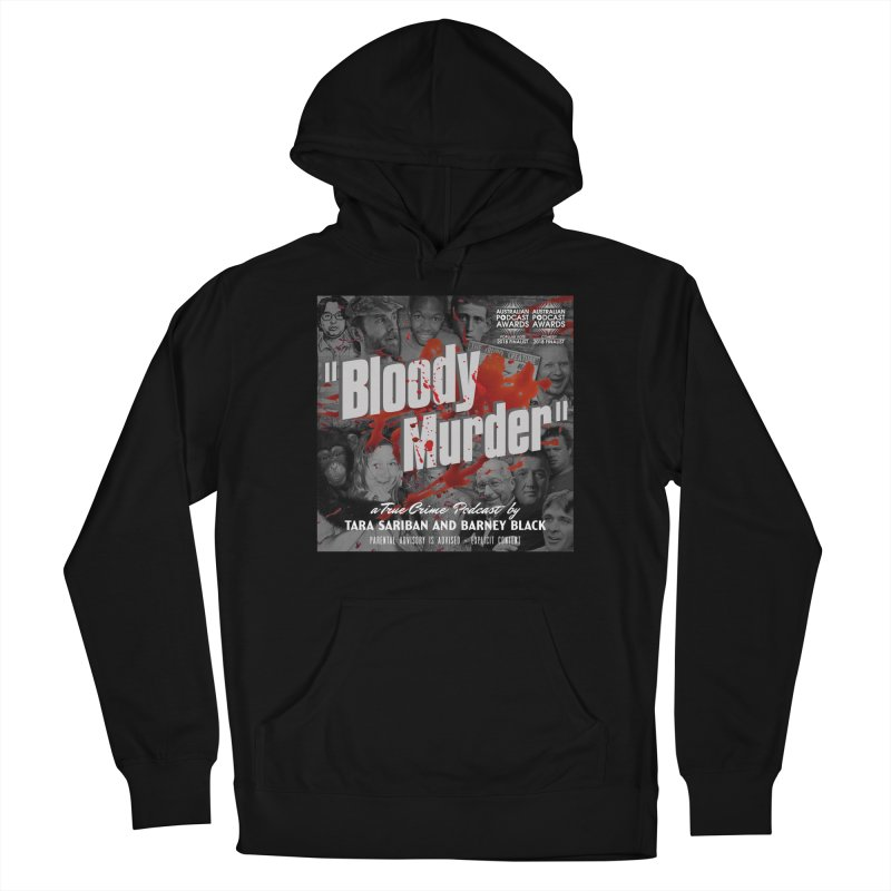 Bloody Murder Podcast Album Cover Women's French Terry Pullover Hoody by Bloody Murder's Artist Shop