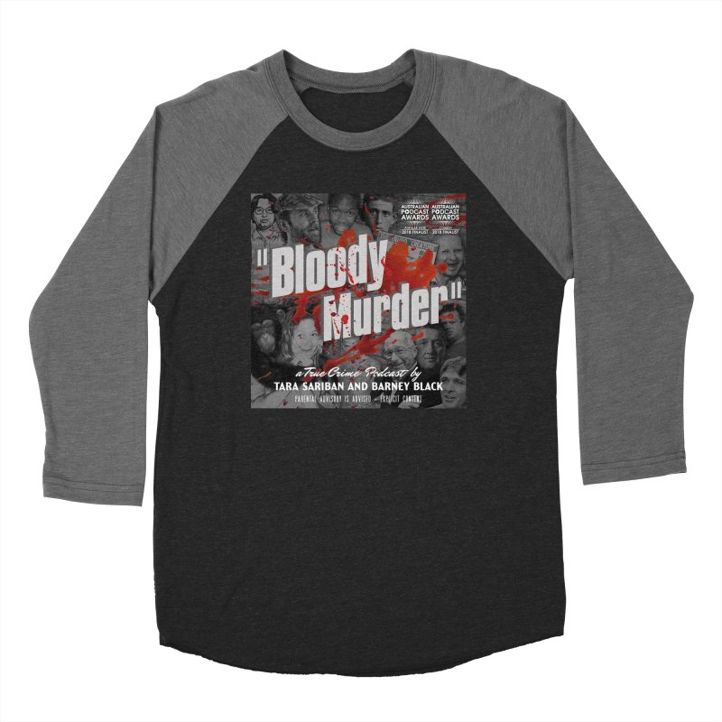 Bloody Murder Podcast Album Cover Men's Baseball Triblend Longsleeve T-Shirt by Bloody Murder's Artist Shop
