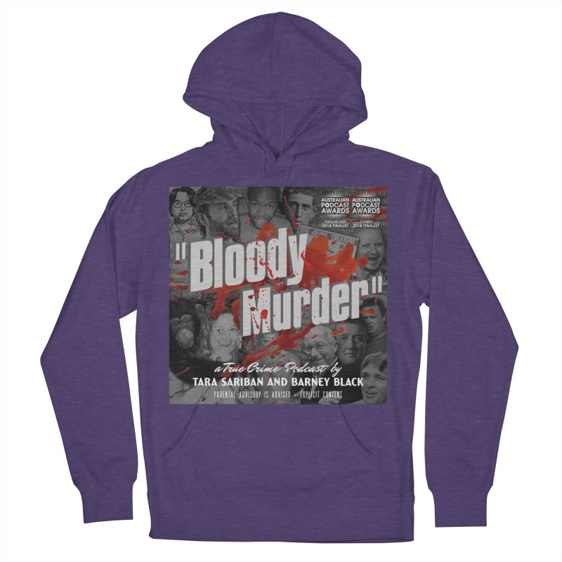 Bloody Murder Podcast Album Cover Men's French Terry Pullover Hoody by bloodymurder's Artist Shop