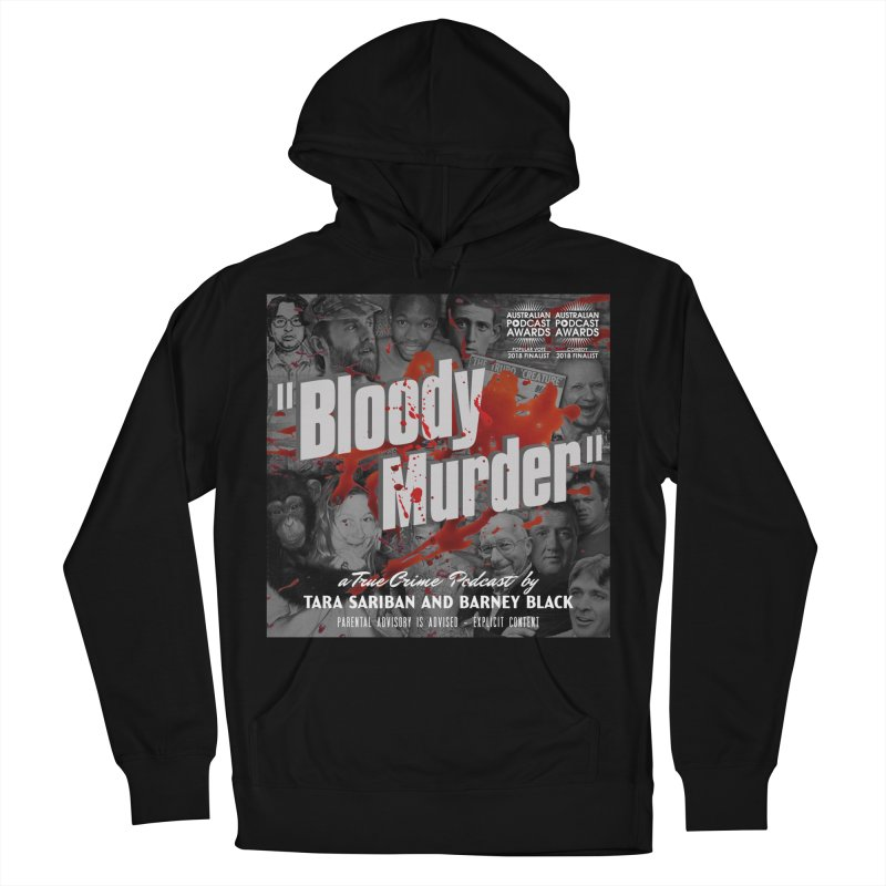 Bloody Murder Podcast Album Cover Men's French Terry Pullover Hoody by Bloody Murder's Artist Shop