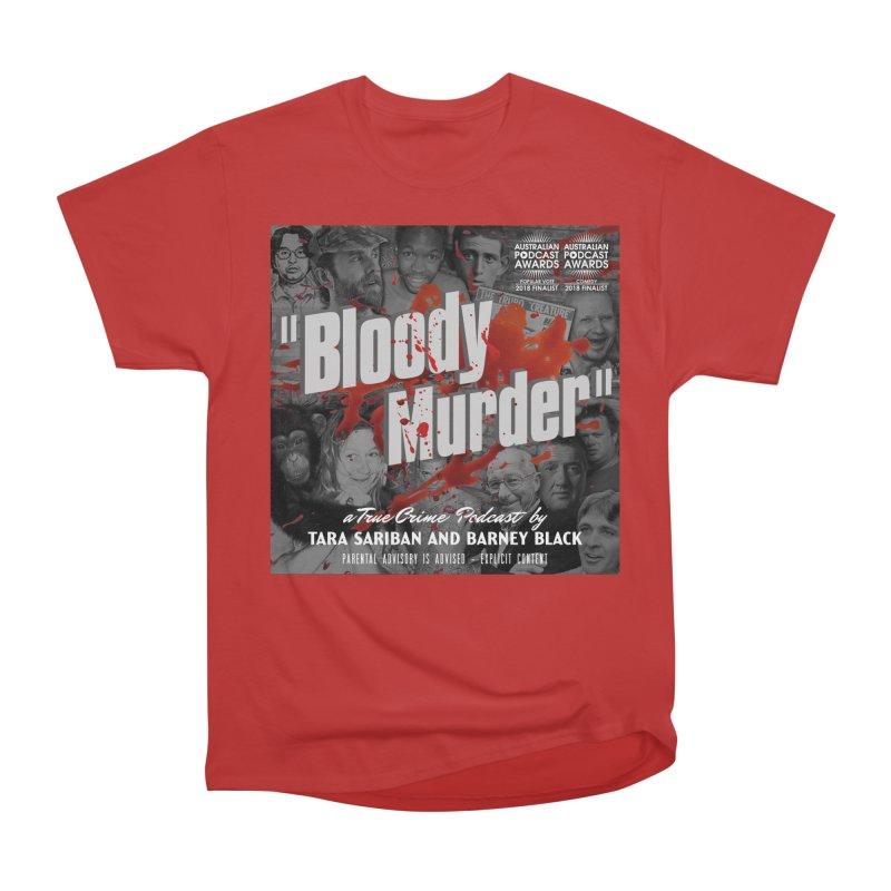Bloody Murder Podcast Album Cover Men's Heavyweight T-Shirt by Bloody Murder's Artist Shop