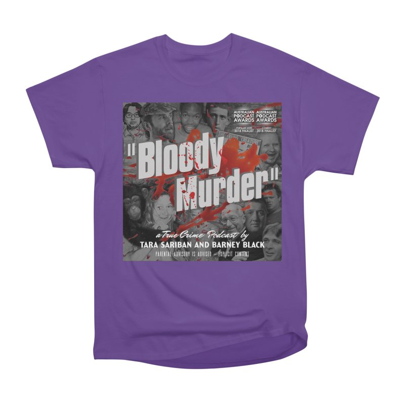 Bloody Murder Podcast Album Cover Men's Heavyweight T-Shirt by bloodymurder's Artist Shop