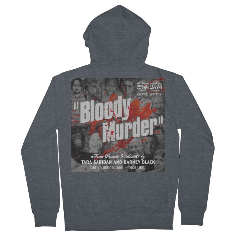 Bloody Murder Podcast Album Cover Women's French Terry Zip-Up Hoody by Bloody Murder's Artist Shop