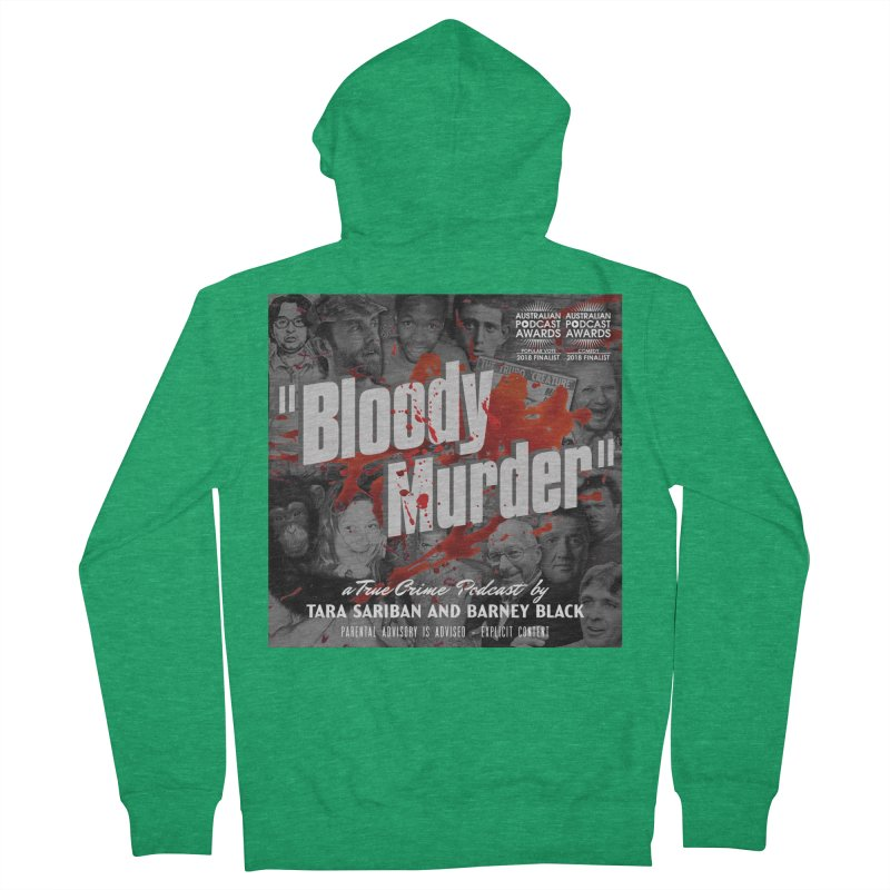 Bloody Murder Podcast Album Cover Men's Zip-Up Hoody by Bloody Murder's Artist Shop