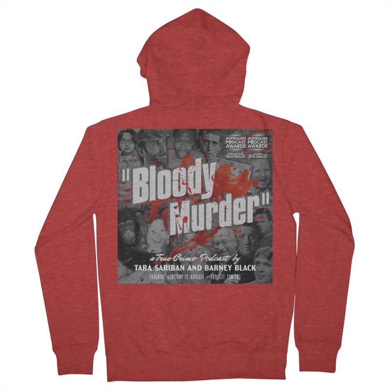 Bloody Murder Podcast Album Cover Men's French Terry Zip-Up Hoody by Bloody Murder's Artist Shop