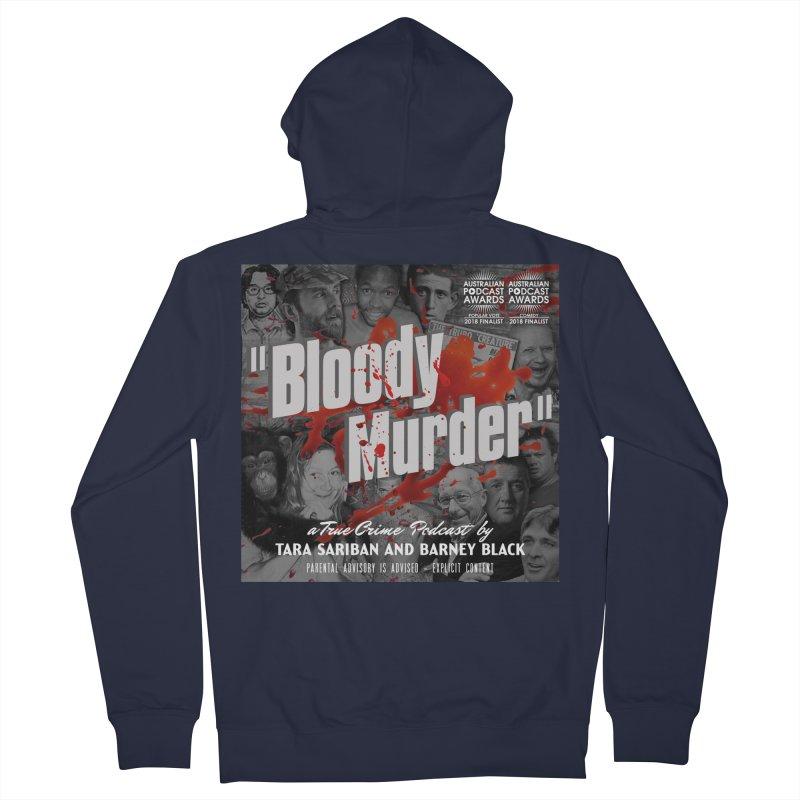 Bloody Murder Podcast Album Cover Men's French Terry Zip-Up Hoody by bloodymurder's Artist Shop
