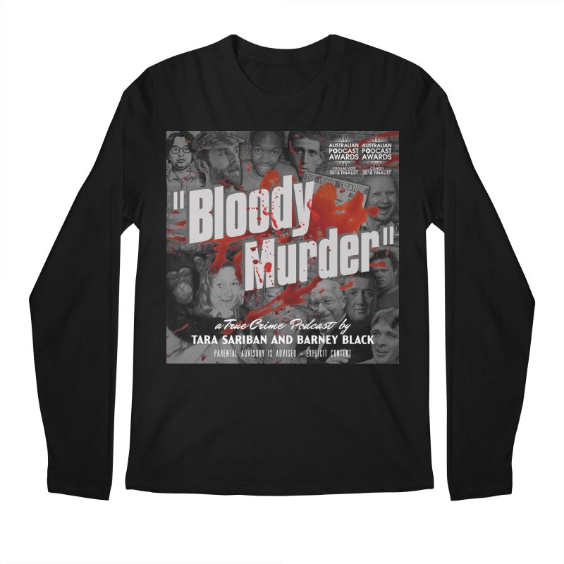 Bloody Murder Podcast Album Cover Men's Regular Longsleeve T-Shirt by Bloody Murder's Artist Shop