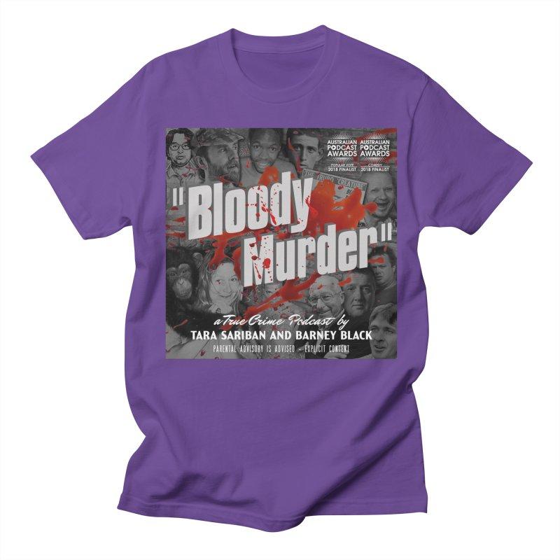 Bloody Murder Podcast Album Cover Women's Regular Unisex T-Shirt by bloodymurder's Artist Shop
