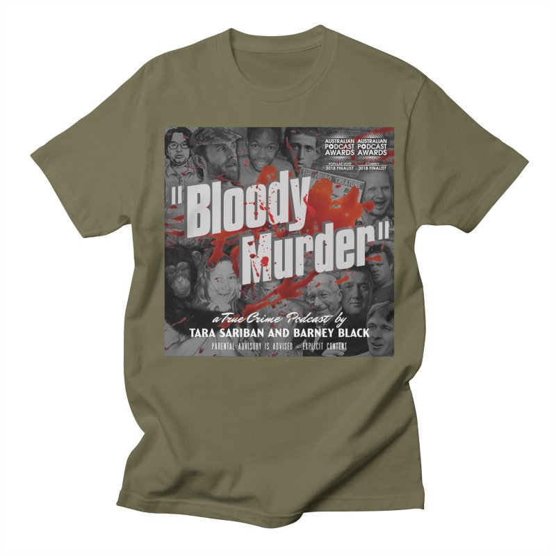 Bloody Murder Podcast Album Cover Women's Regular Unisex T-Shirt by bloodymurder's Artist Shop