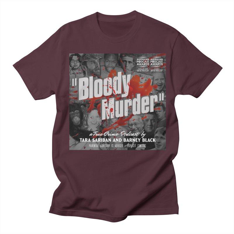 Bloody Murder Podcast Album Cover Men's Regular T-Shirt by bloodymurder's Artist Shop