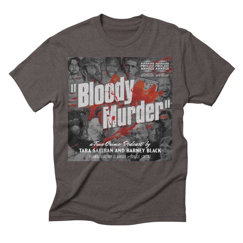 Bloody Murder Podcast Album Cover Men's Triblend T-Shirt by Bloody Murder's Artist Shop