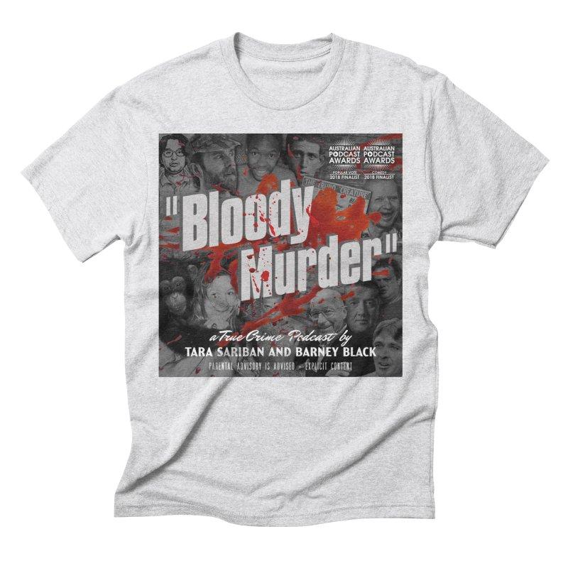 Bloody Murder Podcast Album Cover Men's Triblend T-Shirt by bloodymurder's Artist Shop