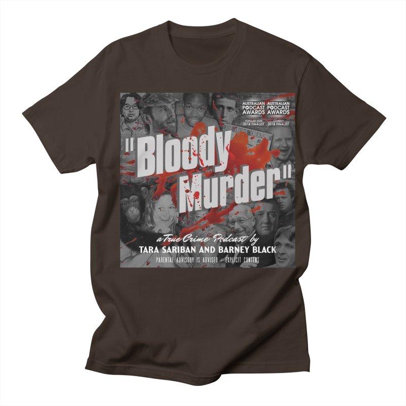 Bloody Murder Podcast Album Cover Men's Regular T-Shirt by Bloody Murder's Artist Shop