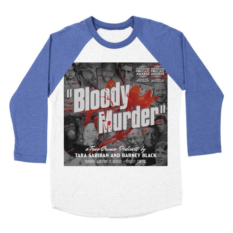 Bloody Murder Podcast Album Cover Women's Baseball Triblend Longsleeve T-Shirt by Bloody Murder's Artist Shop