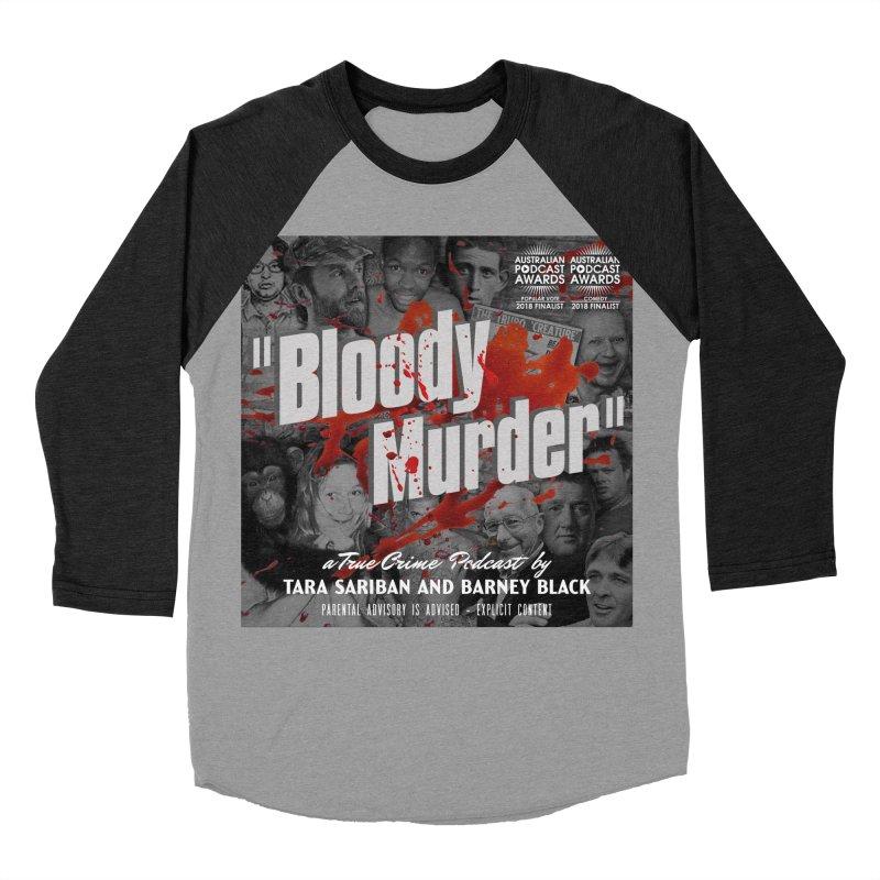 Bloody Murder Podcast Album Cover Men's Baseball Triblend Longsleeve T-Shirt by Bloody Murder's Artist Shop