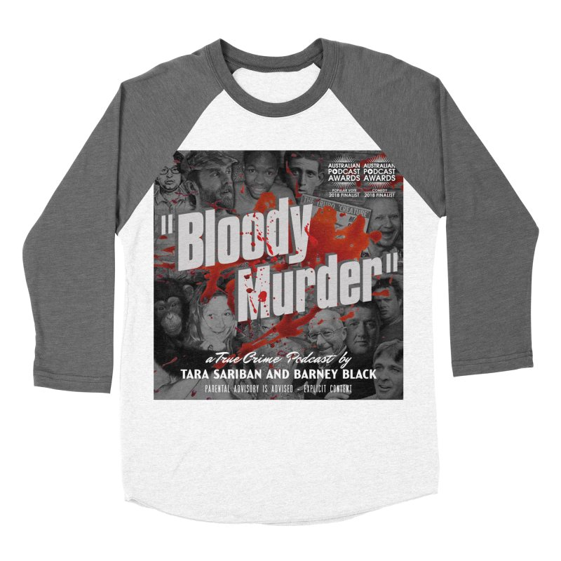 Bloody Murder Podcast Album Cover Men's Baseball Triblend Longsleeve T-Shirt by bloodymurder's Artist Shop