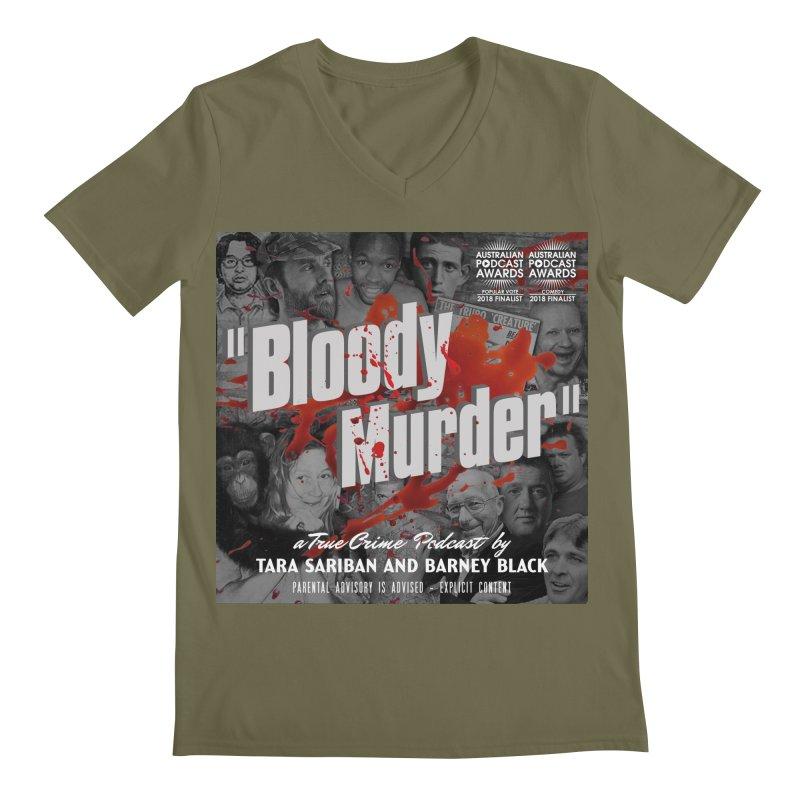 Bloody Murder Podcast Album Cover Men's Regular V-Neck by Bloody Murder's Artist Shop