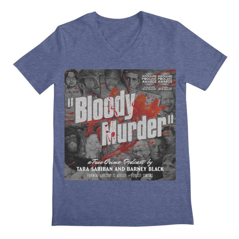 Bloody Murder Podcast Album Cover Men's Regular V-Neck by bloodymurder's Artist Shop