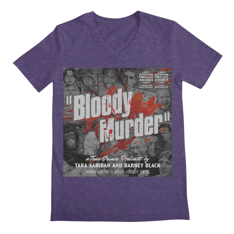 Bloody Murder Podcast Album Cover Men's Regular V-Neck by Bloody Murder's Artist Shop