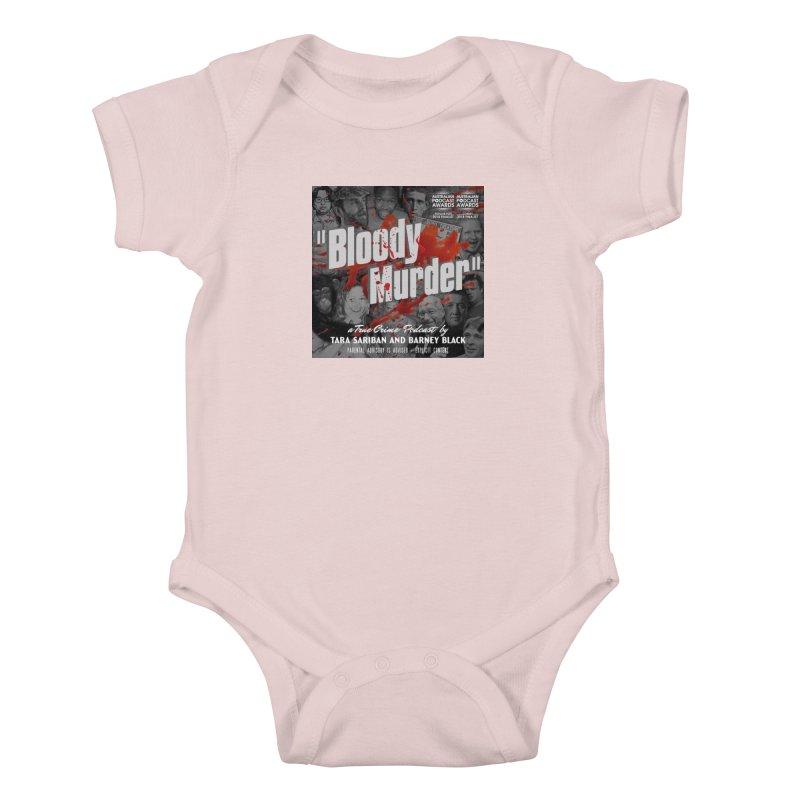 Bloody Murder Podcast Album Cover Kids Baby Bodysuit by bloodymurder's Artist Shop