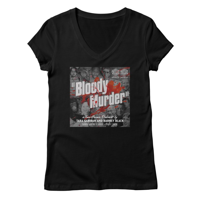 Bloody Murder Podcast Album Cover Women's V-Neck by Bloody Murder's Artist Shop