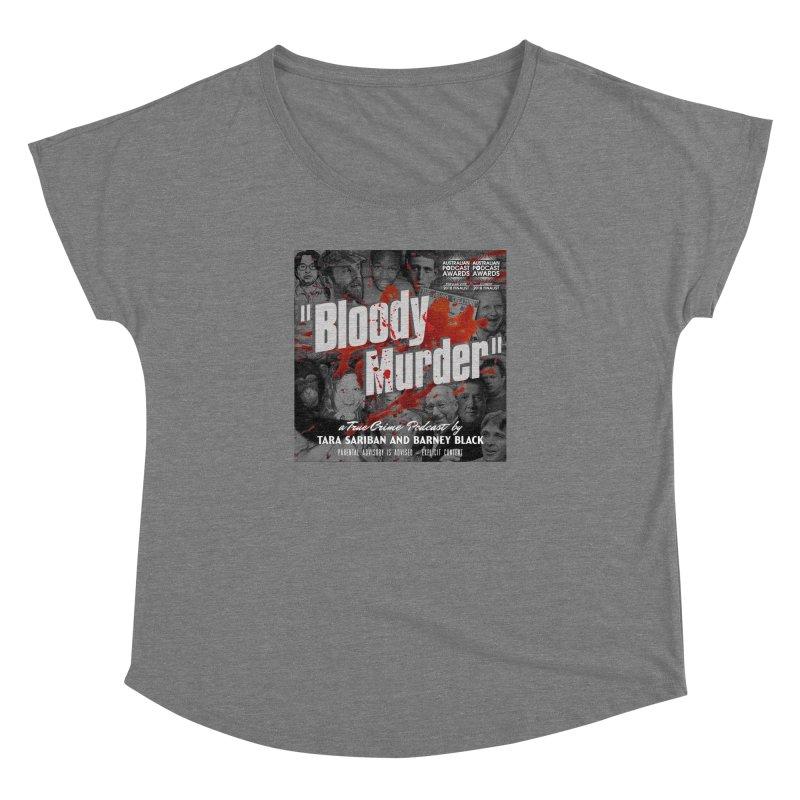 Bloody Murder Podcast Album Cover Women's Scoop Neck by Bloody Murder's Artist Shop