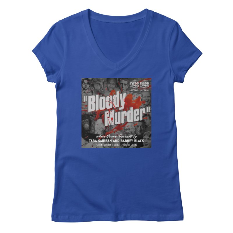 Bloody Murder Podcast Album Cover Women's Regular V-Neck by bloodymurder's Artist Shop