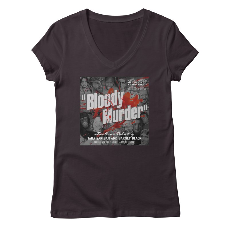 Bloody Murder Podcast Album Cover Women's Regular V-Neck by Bloody Murder's Artist Shop