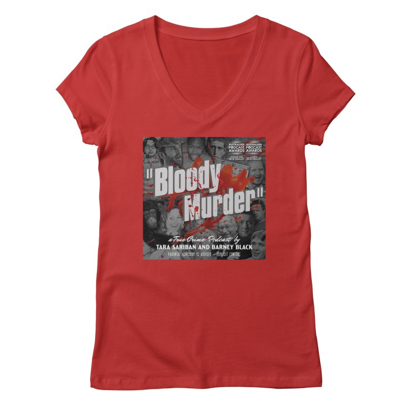 Bloody Murder Podcast Album Cover Women's Regular V-Neck by Bloody Murder's Artist Shop